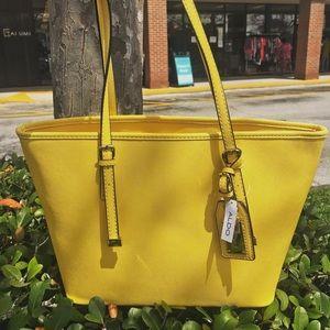 Aldo sunshine yellow tote NEW